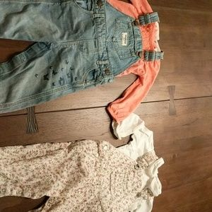 Baby cottons overall and Oshkosh overall bundles